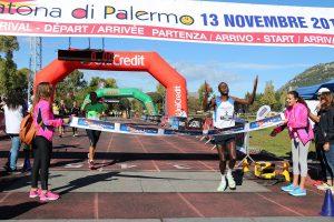 Arrivo vincitore maratona uomini
