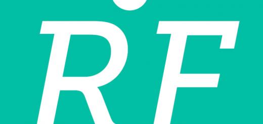 Logo iniziali e sfondo verde