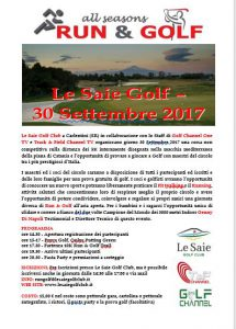 Locandina Run & Golf Le Saie 2017